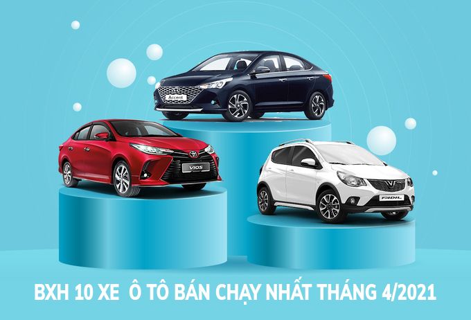 BXH 10 xe ô tô bán chạy nhất tháng 4/2021